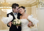 жених, невеста, голуби, свадьба , ЗАГС